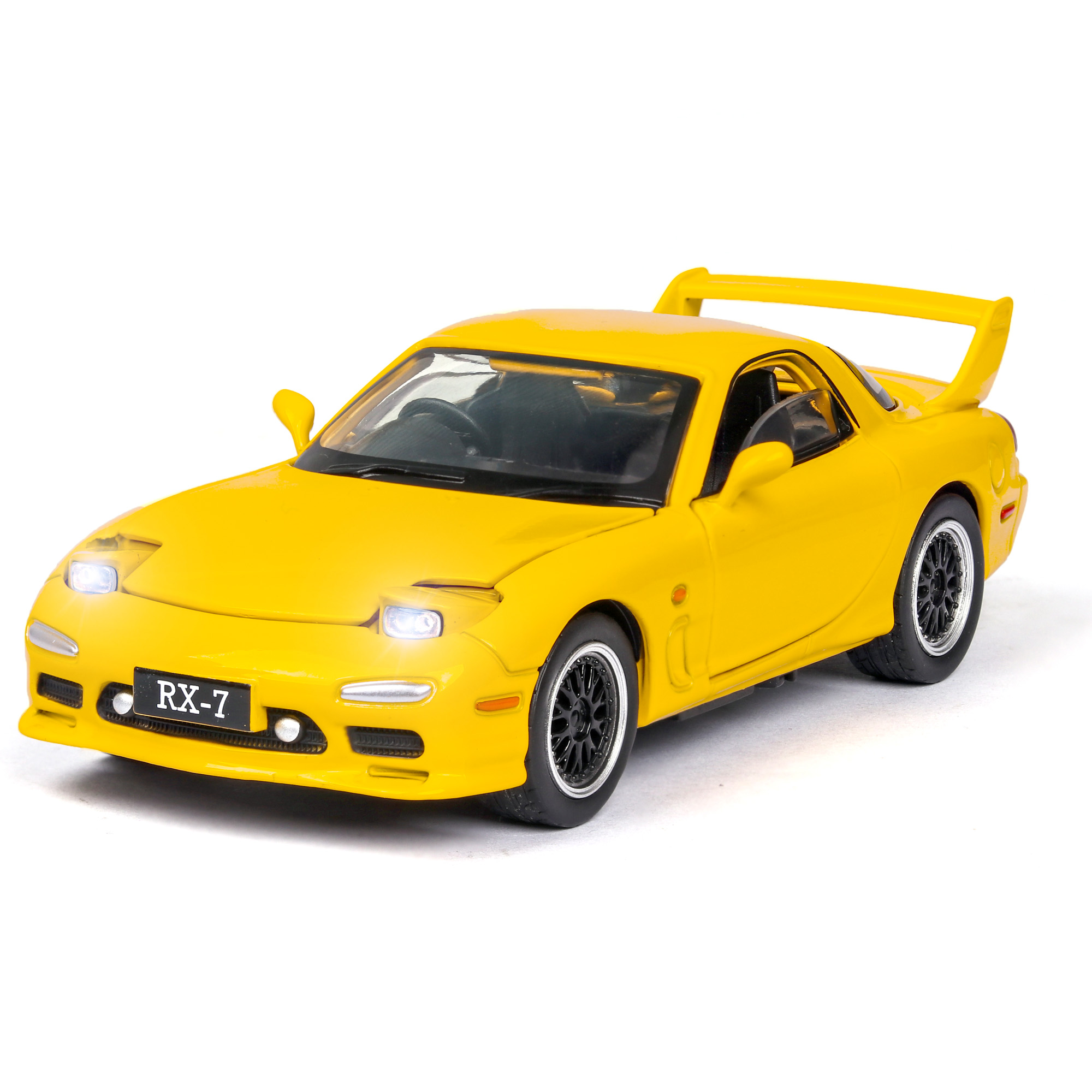 1:32 NEW Simulator Car Mazdas RX-7 Car Model With Sound Light Alloy Toy Car Diecast Toy Vehicle Hot Car Wheel For Children Toys