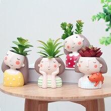 Mold Clay Flowerpot Cement-Pot Concrete Succulent Silicone Manual Durable Craft DIY Girl