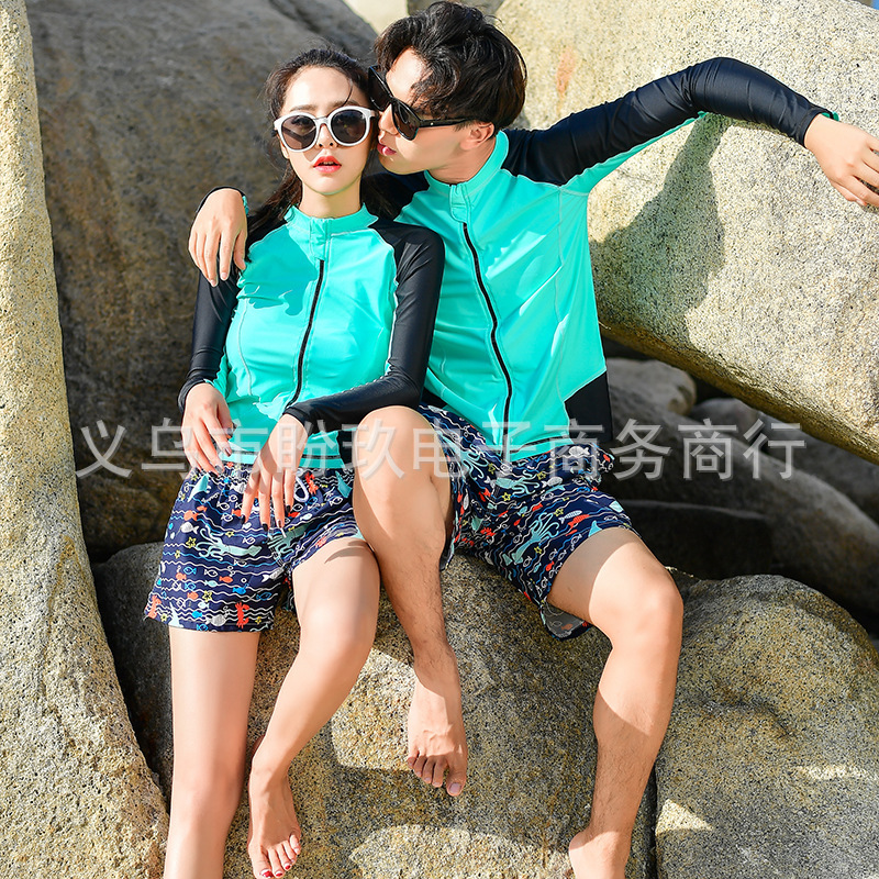 Couples Beach Shorts Korean Quick-Dry Breathable Large Size Short Seaside Holiday Hot Springs Household Men And Women Shorts Und