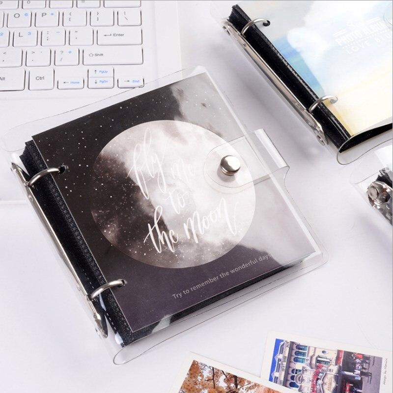 Light and Shadow Series Loose-leaf PP photo Album Ticket Storage Postcard 3 Inch memory 64 Pockets for Fujifilm Instax Mini Film