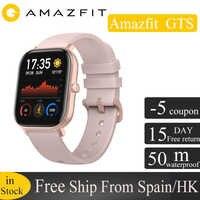 [W magazynie] globalna wersja Amazfit GTS inteligentny zegarek 5ATM wodoodporny 14 dni baterii huami GPS sport zegarek dla xiaomi telefon z ios