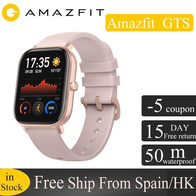Умные часы Amazfit GTS, глобальная версия, водонепроницаемые до 5 АТМ, 14 дней автономной работы, GPS, спортивные часы huami для телефонов xiaomi и IOS