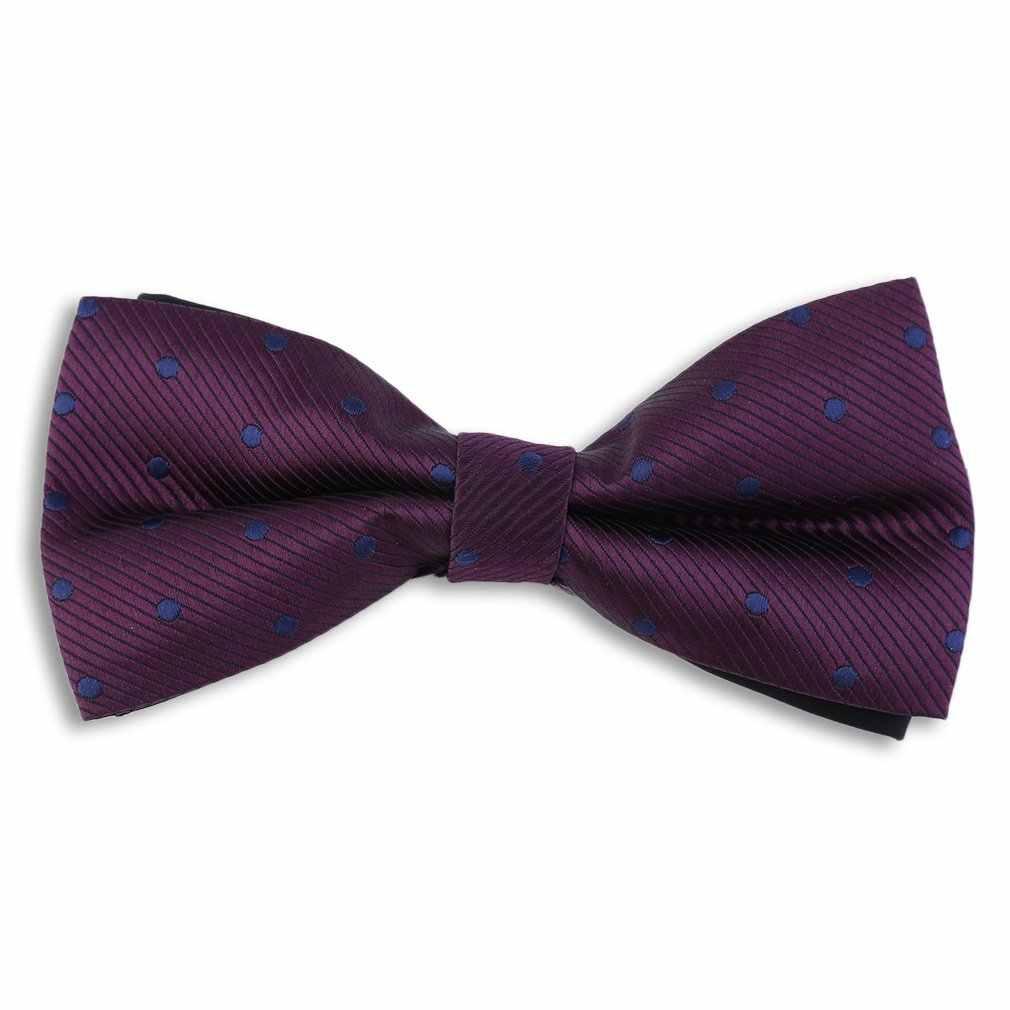 Britannico di Modo Maschio Regolabile Bow Tie Collare Abito Formale Per Business & Wedding PT01/PT25/PT26/PT30 con Piccole Macchie