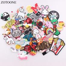 Zotoone 30ピース/ロットランダムファッションパッチ女性のためのラブリーガールズキッズ鉄のためのパッチの服アップリケステッカーdiyアクセサリーe