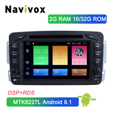 Navivox Android 9.1 Car DVD Player For Mercedes Benz W209 W203 W463 W168 Viano Vaneo Vito Car GPS Bluetooth Radio Stereo Audio цена