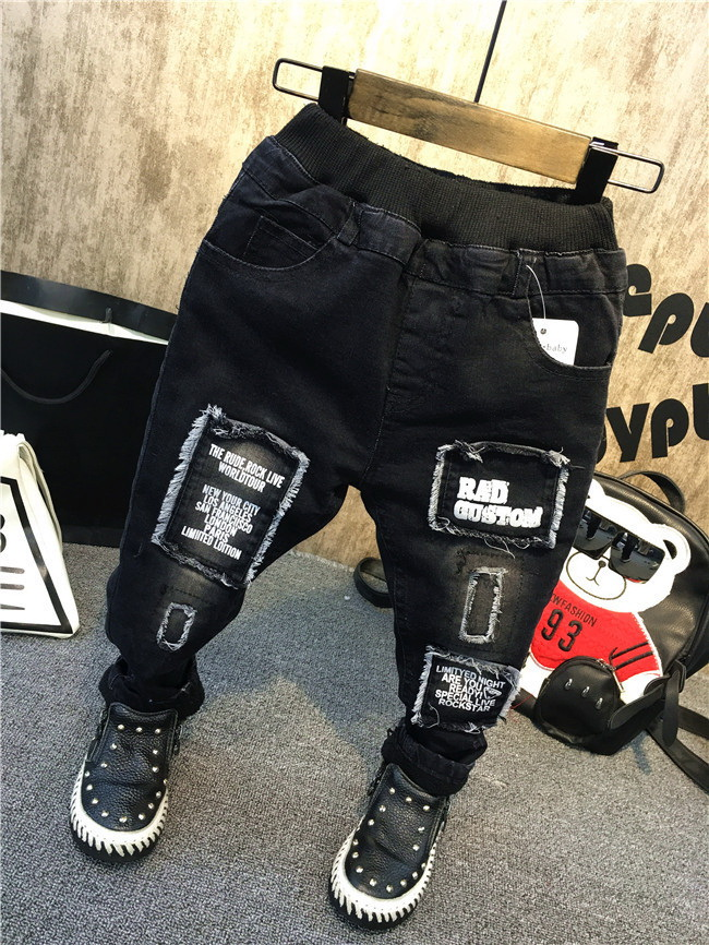 Pants Jeans Trousers Clothing Baby-Boys Kids Children Fashion Casual Winter Spring Thickened title=
