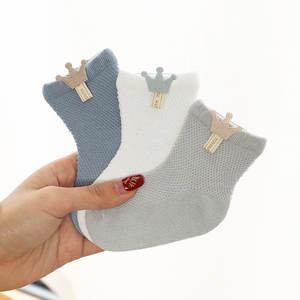 Baby Socks Socks-Accessories Thin Boneless Newborn Boys Cotton 3-Pairs/Lot Models Suture