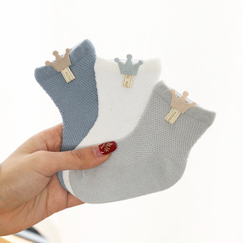 3 Pairs / lot Child Socks Mesh Socks Skinny Cotton Fashions Boys Ladies Socks Boneless Suture New child Socks Equipment Youngsters Socks