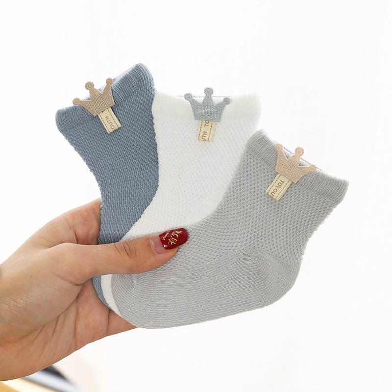 Baby Socks Socks-Accessories Thin Boneless Newborn Boys Cotton Suture 3-Pairs/Lot Models