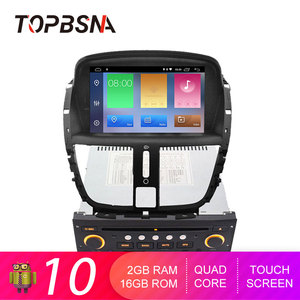 TOPBSNA Android 10 автомобильный dvd-плеер для Peugeot 207 2008-2014 Автомобильный мультимедийный плеер GPS навигация WIFI 1 Din автомобильное радио стерео RDS