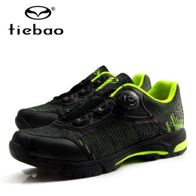 Tiebao ciclismo sapatos auto-lock mtb respirável malha superior sapatos de bicicleta ao ar livre sapatos de lazer dos homens tênis zapatillas mtb 2