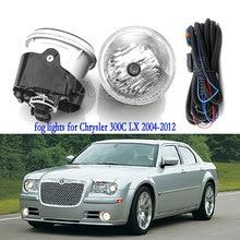 Fog Lights For Chrysler 300C LX 2004 2012 Fog Light Halogen Fog Lamp Headlight Car Lamps Driving Lamp Wiring Harness Switch kit