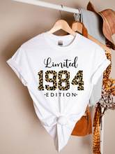 Limited edition 1984 shirt, 37th birthday gift, vintage 1984 shirt, leopard 1984 shirt, 37th birthday party T-shirt 100% cotton