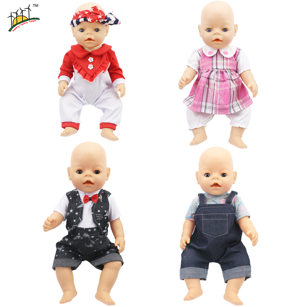 Doll Baby Jump Suits For 43 cm Baby Reborn Doll Accessories Children Girls Toys