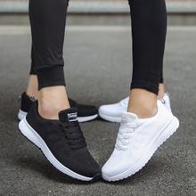 2020 kobiet Sneakers Mesh oddychające kobiety obuwie kobieta płaskie Plus rozmiar białe trampki damskie Tenis Feminino buty dla zakochanych tanie tanio C NEW S Cotton Fabric Szycia Stałe Dla dorosłych Wiosna jesień Mieszkanie (≤1cm) Lace-up Pasuje prawda na wymiar weź swój normalny rozmiar