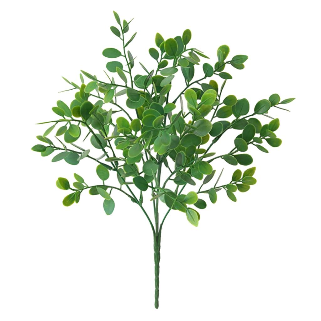 Künstliche Buchsbaum Grün Vorbauten Gefälschte Pflanzen Blumen Bouquet Eucalyptuses