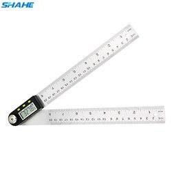 200mm 8 digital inclindigital transferidor inclinômetro régua de ângulo eletrônico goniômetro medidas de aço inoxidável régua de ângulo