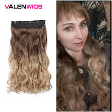 Valen Wigs Ombre Natural Color Women Synthetic Heat Resistan