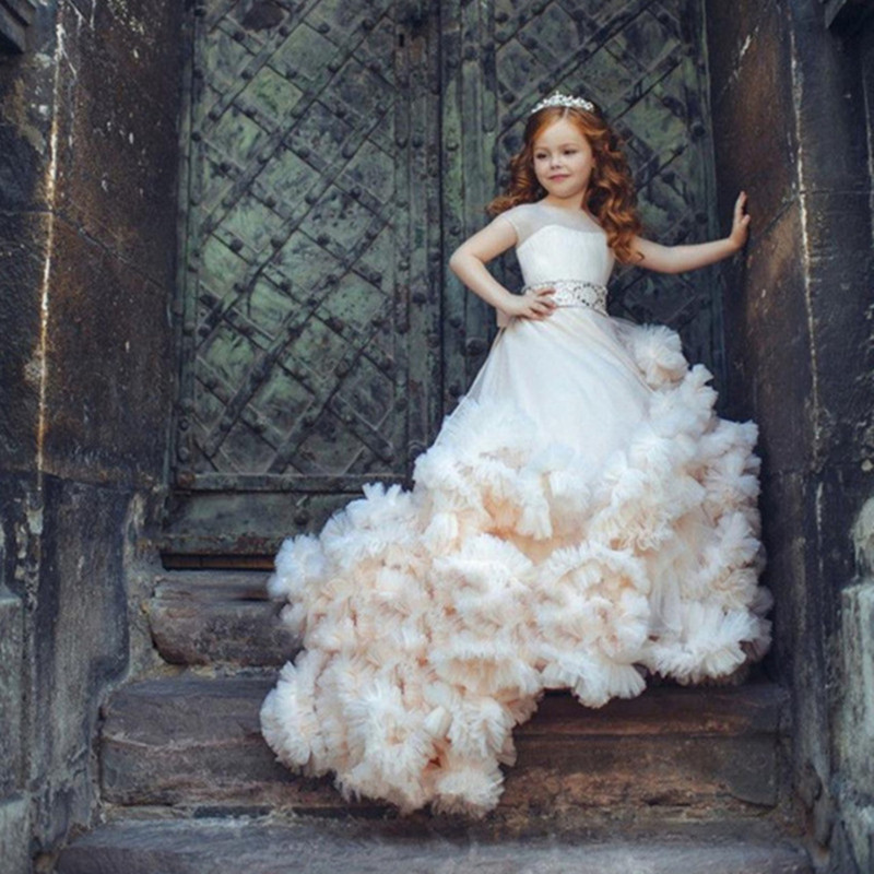 Flower Girls Dresses For Wedding Girl Communion Party Prom Gown Princess Pageant Bridesmaid Dresses For Girls