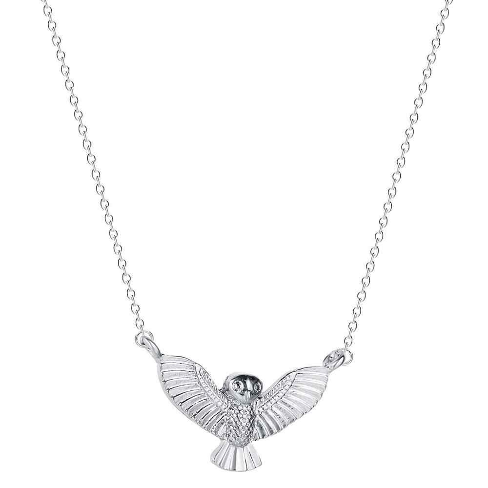 Latający orzeł w stylu Vintage Punk naszyjnik mężczyźni kobiety ptak wisiorek Hawk sowa naszyjnik zwierząt oświadczenie biżuteria naszyjniki prezent
