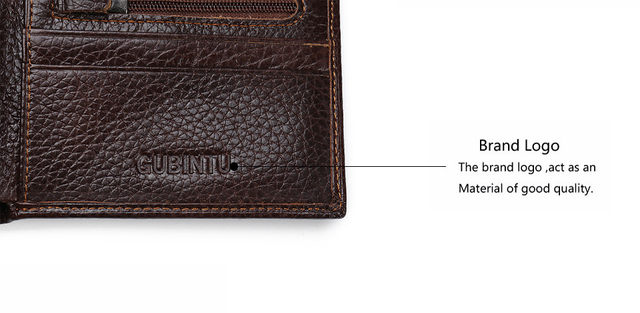 H98a50dc700d346468dd56f6ca28b3910C - GUBINTU Genuine Leather Men Wallets Coin Pocket Zipper Real Men's Leather Wallet with Coin High Quality Male Purse cartera