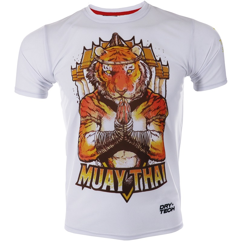 ROLLHO Short-sleeved MMA Fight Sports Soft Monkey T-shirt Fighting Training Fitness Tiger Broadcast Muay Thai Jiu Jitsu Shirts