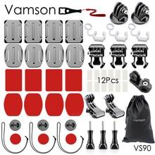 Набор аксессуаров Vamson для Go pro Hero 7 6 5 практичное крепление адаптера для DJI OSMO Action для Xiaomi для SJCAM VS90