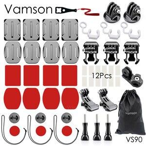 Image 1 - Vamson pour Go pro Hero 7 6 5 Kit daccessoires support adaptateur pratique pour DJI OSMO Action pour Xiaomi pour SJCAM VS90