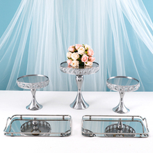 2-Tiers Cake-Stand Round Sliver-Color Exquisite