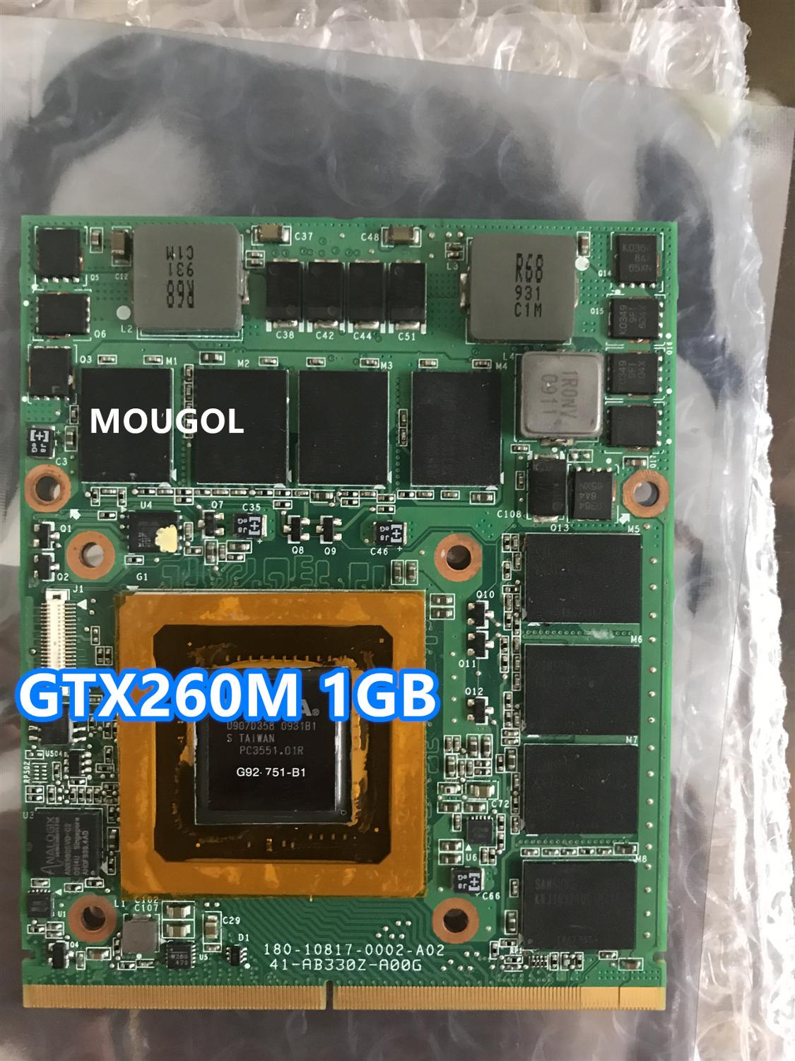 GTX 260M GTX260M G92-751-B1 VGA Video Graphic Card DDR5 WDXVH P/N: 0WDXVH 96RJ4 for Dell <font><b>Alienware</b></font> M15x <font><b>M17x</b></font> <font><b>R1</b></font> Fully test image
