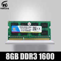 VEINEDA Ram ddr3 2gb 4gb 8gb Sodimm Ram ddr3 4gb 1600 PC3-12800 Compatibile ddr3 1333 204pin per Intel AMD Del Computer Portatile