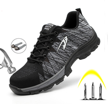 men safety shoes with boots sport work shoes for men protective steel toe cap boots work indestructible construction shoes Men Safety Shoes Boots Breathable Work Shoes for Men Protective Steel Toe Cap Boots Work Indestructible Construction Shoes