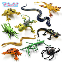 12pcs Hot toys Simulation Dragonfly Ant Spider Frog insect snake lizard Mantis animal model action figure Gift For Kids Set