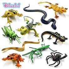 12pçs brinquedos quentes simulação dragonfly, formiga, sapo, inseto, cobra, lagarto, modelo de animal, figura de ação, presente para crianças conjunto de brinquedos,