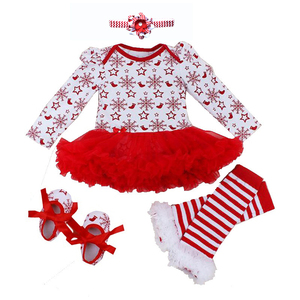 Image 1 - Baby Girl Romper 0 2Y Autumn Winter Newborn Baby Clothes for Girls Christmas Gift Kids Bebe Jumpsuit Baby Girl Outfits Clothes