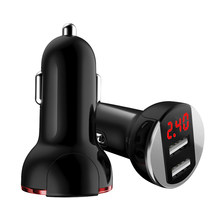 5 V/3.1A Universele Dual Usb-uitgang Car Charger Voor Huawei P10 Plus Mate 9 Voor Xiaomi Mi5 Mi6 plus Led Voltage Display Oplader(China)