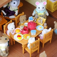 Dollhouse Miniature Furniture Toys Set DIY Forest Family Kids Girls Pretend Play Furniture Toys Gift for Christmas Birthday