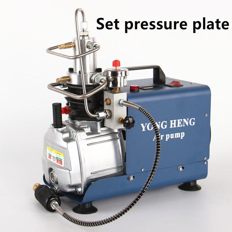 300bar 30mpa 4500psi compressor de ar elétrico de alta pressão da bomba ar para pneumático carabina scuba rifle pcp inflator 220v 110v