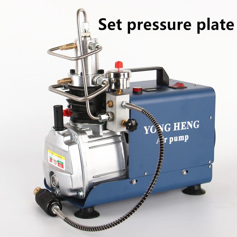 Pompe à Air à haute pression de compresseur d'air électrique de 300BAR 30MPA 4500PSI pour le gonfleur pneumatique de PCP de fusil de plongée d'airgun 220v 110v
