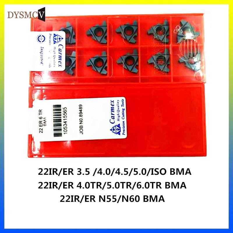 10PCS 22ER 22IR 4TR 5TR 6TR N55 N60 3.5ISO 4.0 ISO 4.5 ISO 5.0 BMA Carbide CNC Thread Blade Lathe Blade Cutting Tool|Токарный инструмент|   | АлиЭкспресс