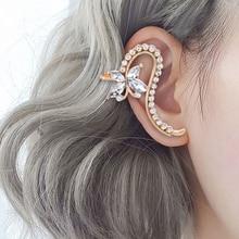10 Style Fashion Ear Cuffs Star Flower Ear Cuff Clip Earrings for Women Crystal Climbers No Piercing Fake Cartilage Earring 2020
