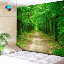 200*300cm Plus Size Wall Tapestry Forest Tree Trail Boho Decor Mandala Wall Hanging Hippie Tapestry Wall Carpet Cloth Bedspread tree forest waterproof wall hanging tapestry
