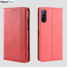 Luxury Retro Slim Magnetic Leather Flip Cover For Sony Xperi