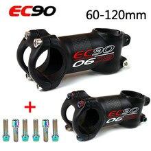 EC90 31.8 dağ bisikleti sapları karbon 6/17 derece kök kısa bisiklet Sterm 60-120mm bisiklet Accesorios gidon kaynaklanıyor