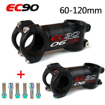 EC90 31 8 rower górski wynika węgla 6 17 stopni macierzystych krótkie na rower Sterm 60-120mm rower Accesorios kierownica wynika tanie i dobre opinie CN (pochodzenie) z włókna węglowego 31 1-32 5mm 26-35mm 28 6mm 6 17 degrees carbon fiber+Aluminum alloy 60 70 80 90 100 110 120mm