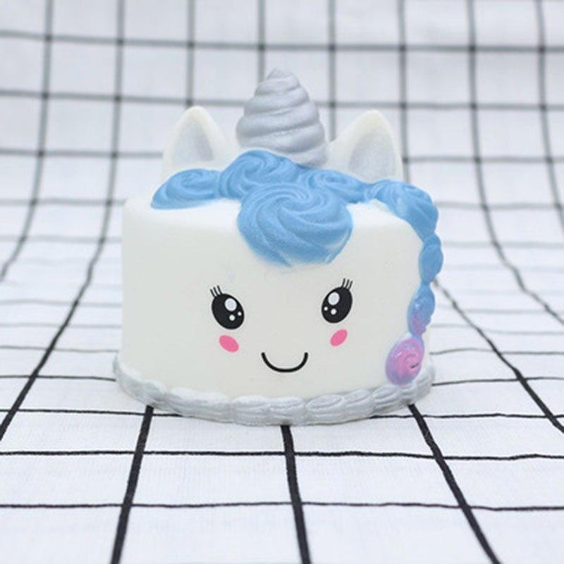 Squeeze Toys Unicorn Cake PU Simulation Unicorn Animal Slow Rebound Model Stress Relief Toy Interesting Children's Toys