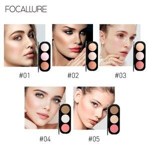 Image 3 - Focallure 新 arrivel 3 色赤面 & パレットフェイスマット蛍光粉末イルミネーション赤面粉末