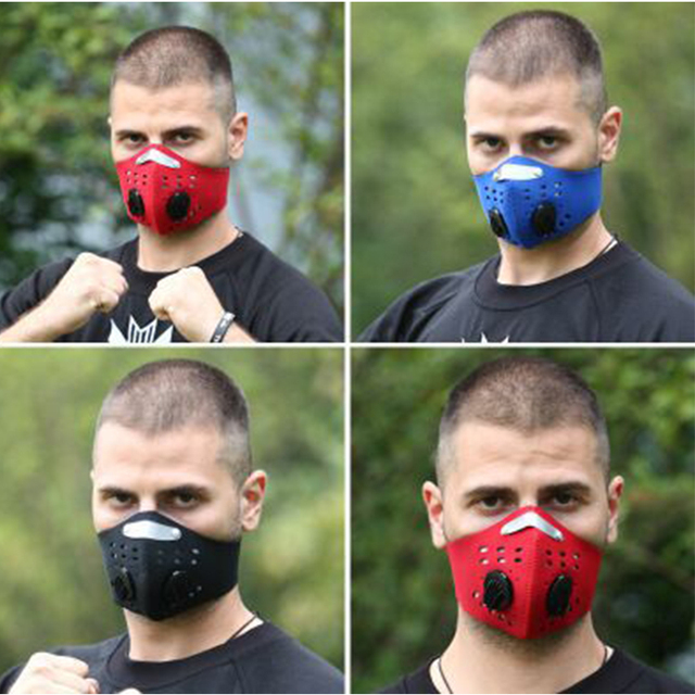 Adult Reusable PM2.5 Anti Flu Safety Elastic Filter Breathable Face Masks Outdoor Bicycle Face Shield 5