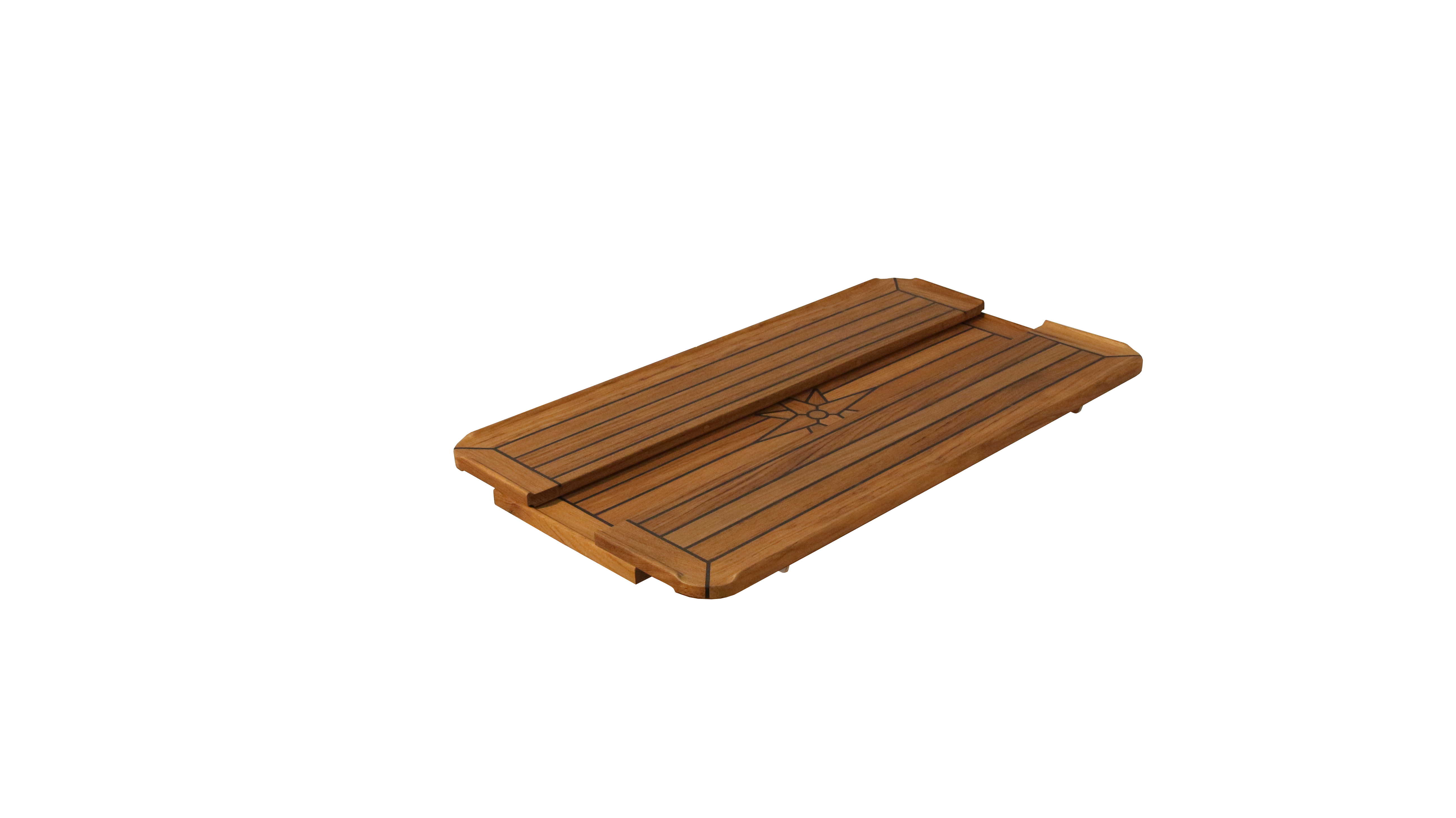 Slide Folding Teak Table Top With Nautic Star 3 Sizes Marine Boat RV Caravan