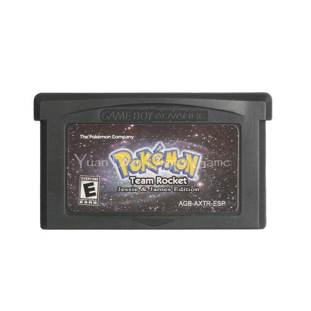 Na konsolę Nintendo GBA gra wideo karta konsoli Poke seria Team Rocket Jessie & James język hiszpański wersja amerykańska